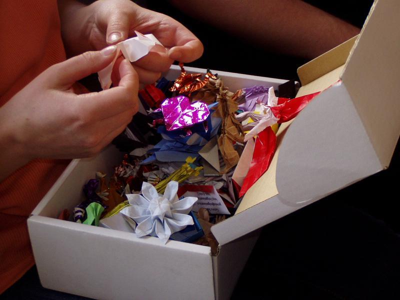 Anna představuje své origami