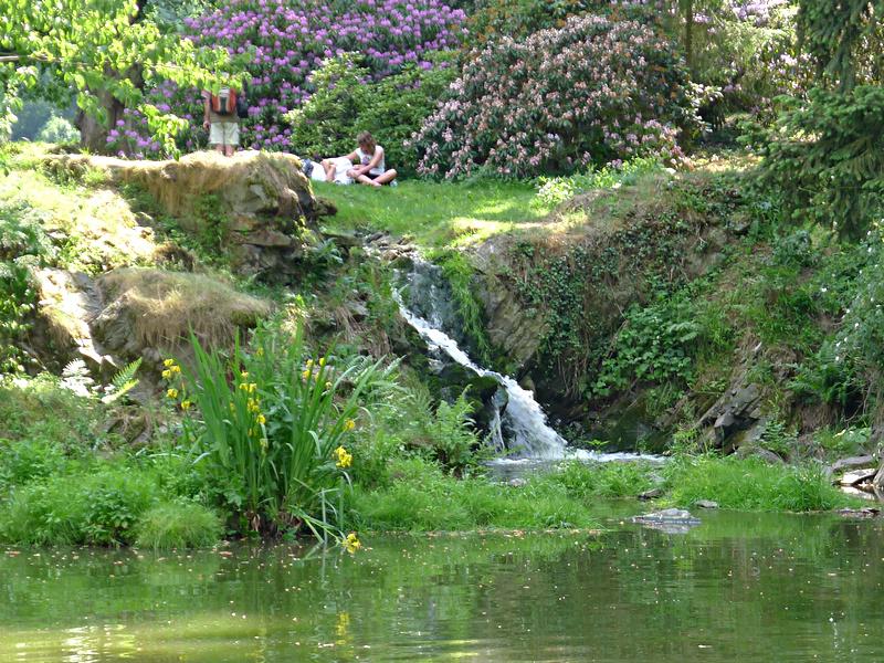 klid a harmonie v zámeckém parku