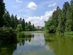 průhonický zámecký park se zámkem