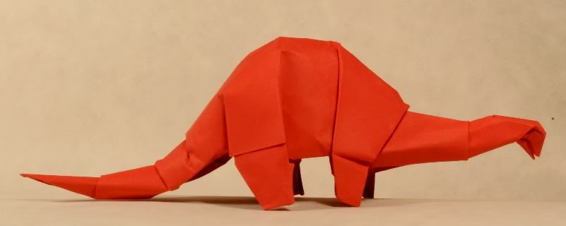 Apatosaurus z Origami_fantasy