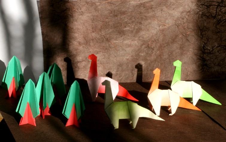 Brachiosauři požírají sekvojový lesík