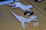 Joseph Wu: t-rex a kočkovitá šelma ve skoku