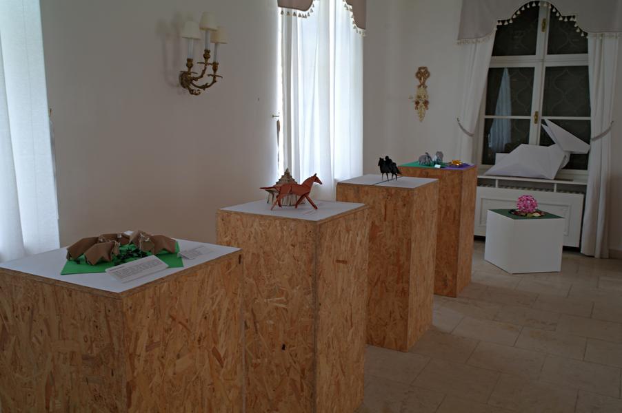 Výstava v Letohrádku Brno, celkový pohled, první výstavní místnost, levá část