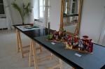 Výstava v Letohrádku Brno, celkový pohled, druhá výstavní místnost, pravá část