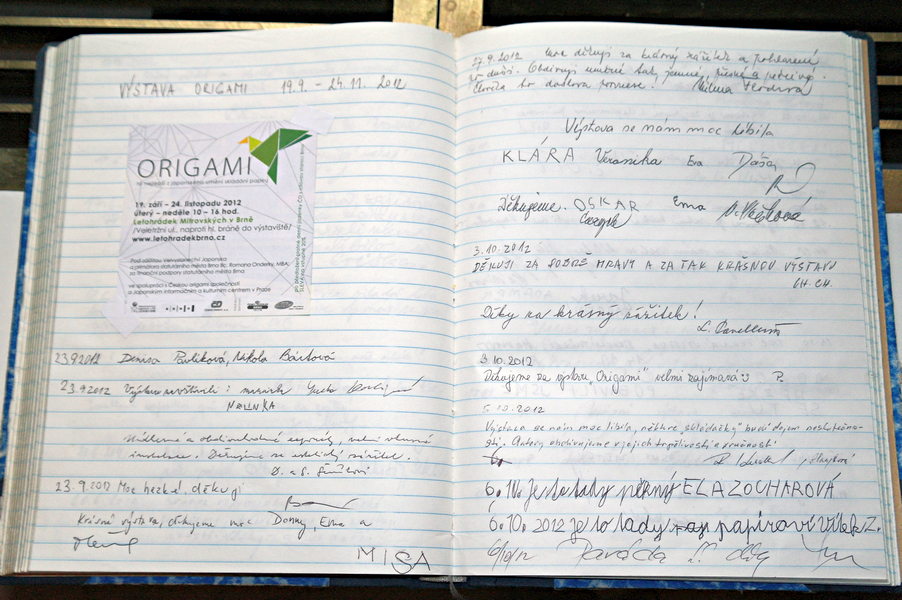 zápisy v návštěvní knize