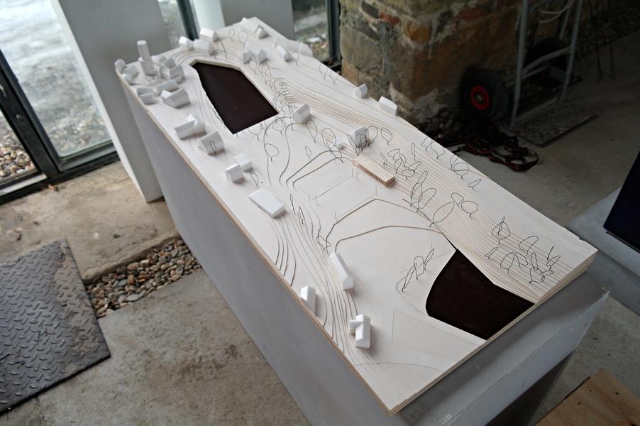 architektonický model části Jenštejna