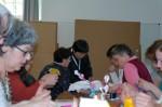 Dílna Tomoko Fuse: Tomoko vysvětluje německým dámám