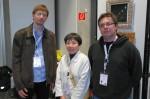 Ondřej Cibulka a Evžen Dub s Tomoko Fuse