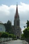 Kostel ve Vítkově - čelní pohled
