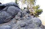 Budišovská sopka - kulovité vyvřeliny