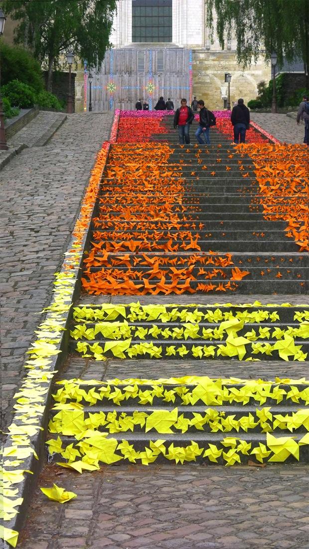 ARTAQ 2013 - jednoduché skládanky na schodech