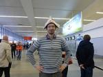Vítání Mijuki na letišti