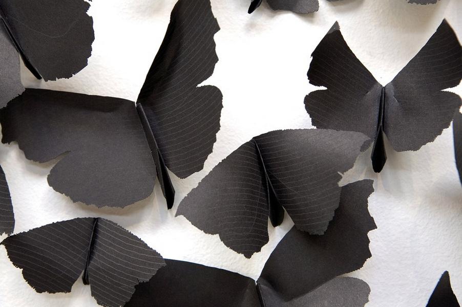 různé tvary motýlů