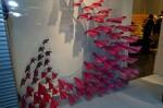 Detail červených vlaštovek