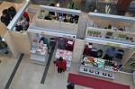 Prodejní stánky na trhu - origami papír a japonský čaj