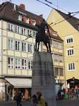 Socha předpokládaného zakladatele města Bertolda III. Zähringen