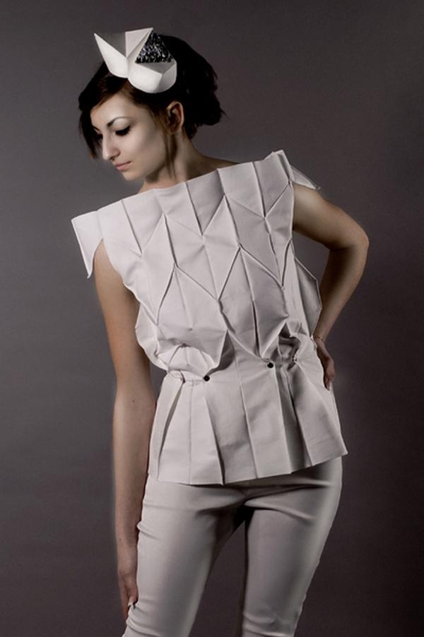Jigsaw, plizovaný předek s efekty origami mozaiky